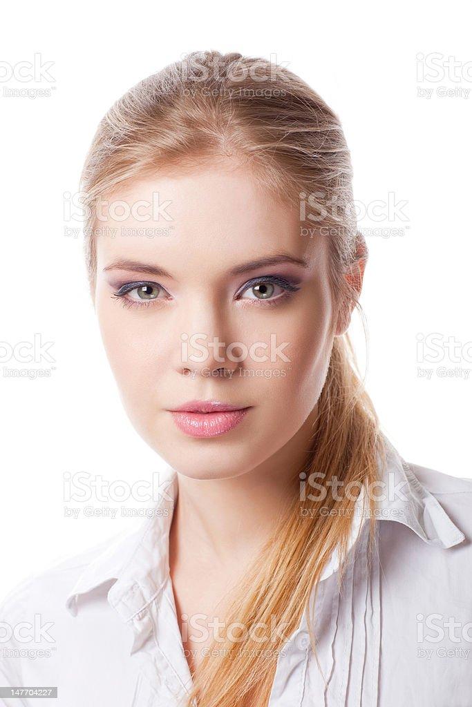 Gros plan portrait de jolie femme photo libre de droits