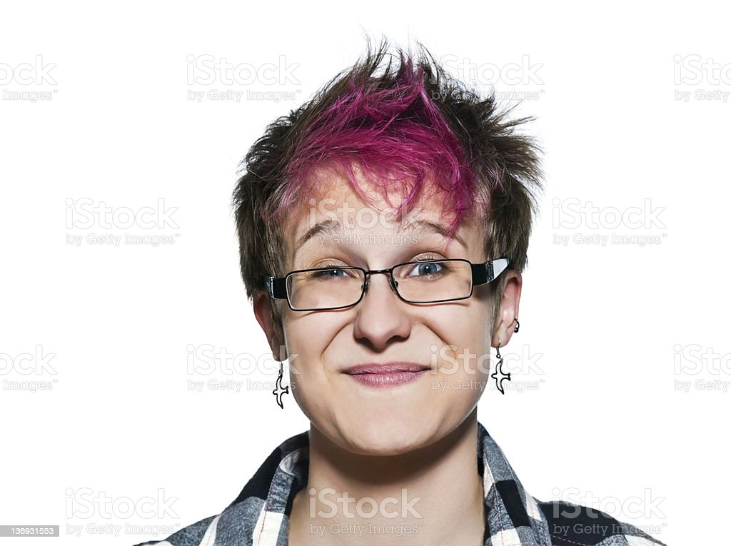 Close-up portrait of smiling woman royalty-free stock photo