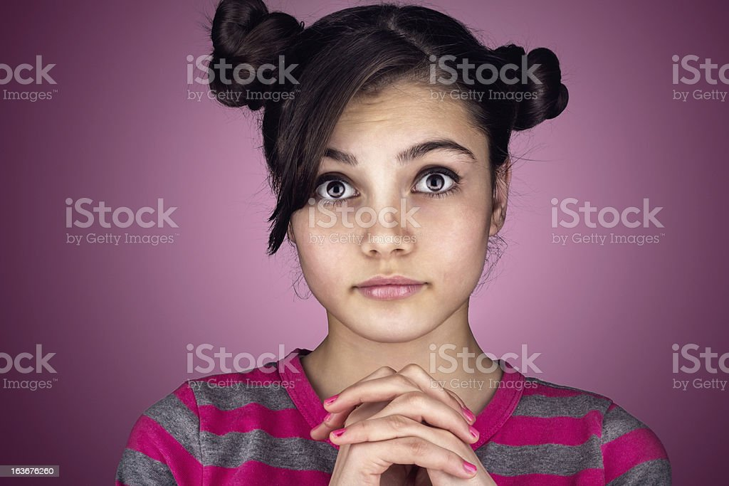 Close-up portrait of teenager royalty-free stock photo