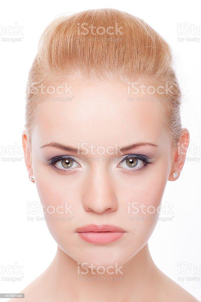 portrait de jeune femme gros plan photo libre de droits