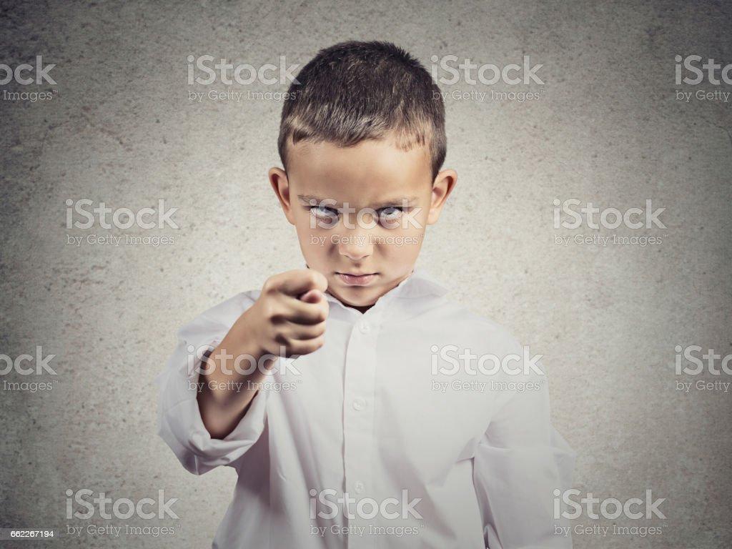 Closeup portrait sad, depressed, alone, unhappy, gloomy child boy stock photo