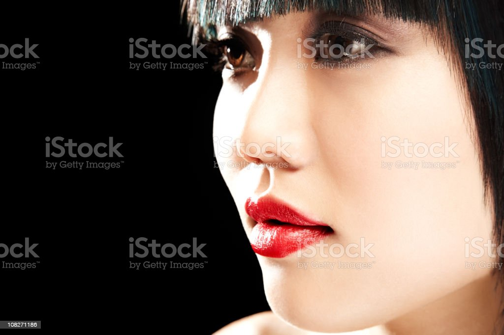 Close-up Profile of Woman royalty-free stock photo