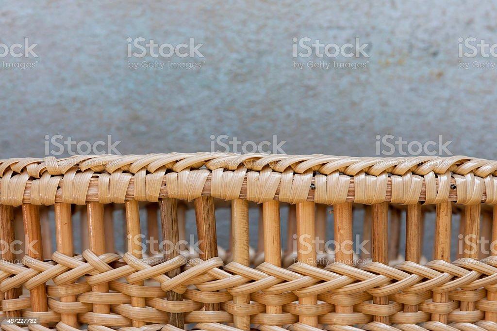 Closeup Rattan basket pattern royalty-free stock photo