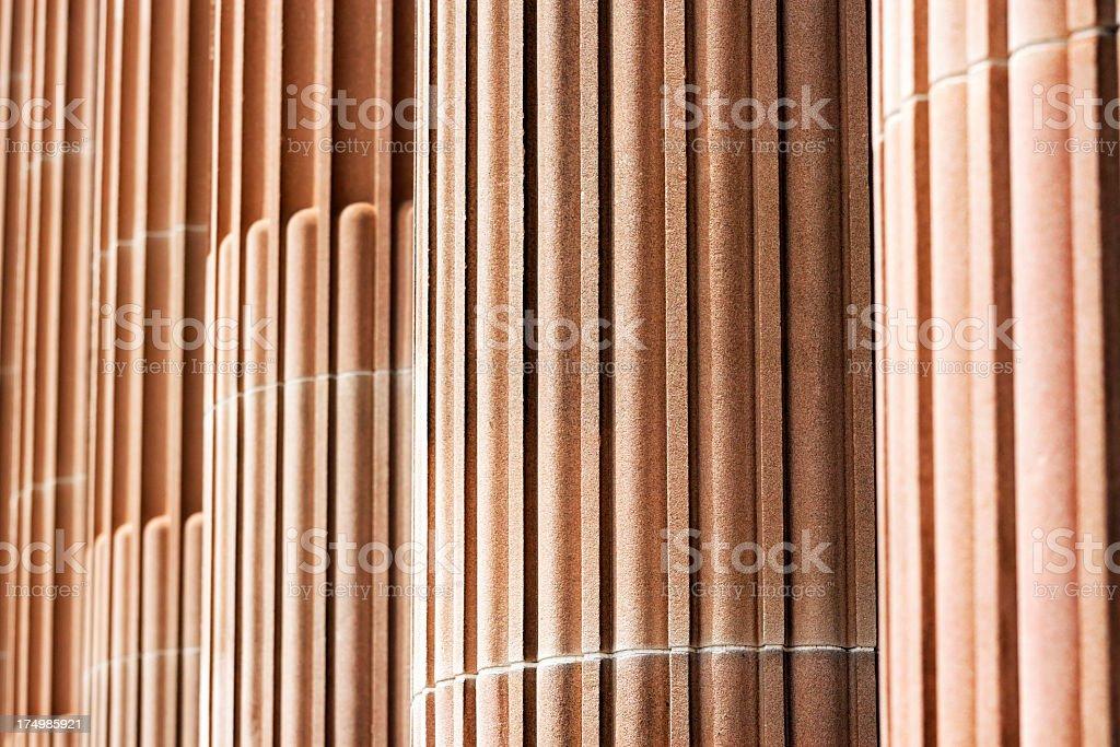 Closeup row of classical columns royalty-free stock photo