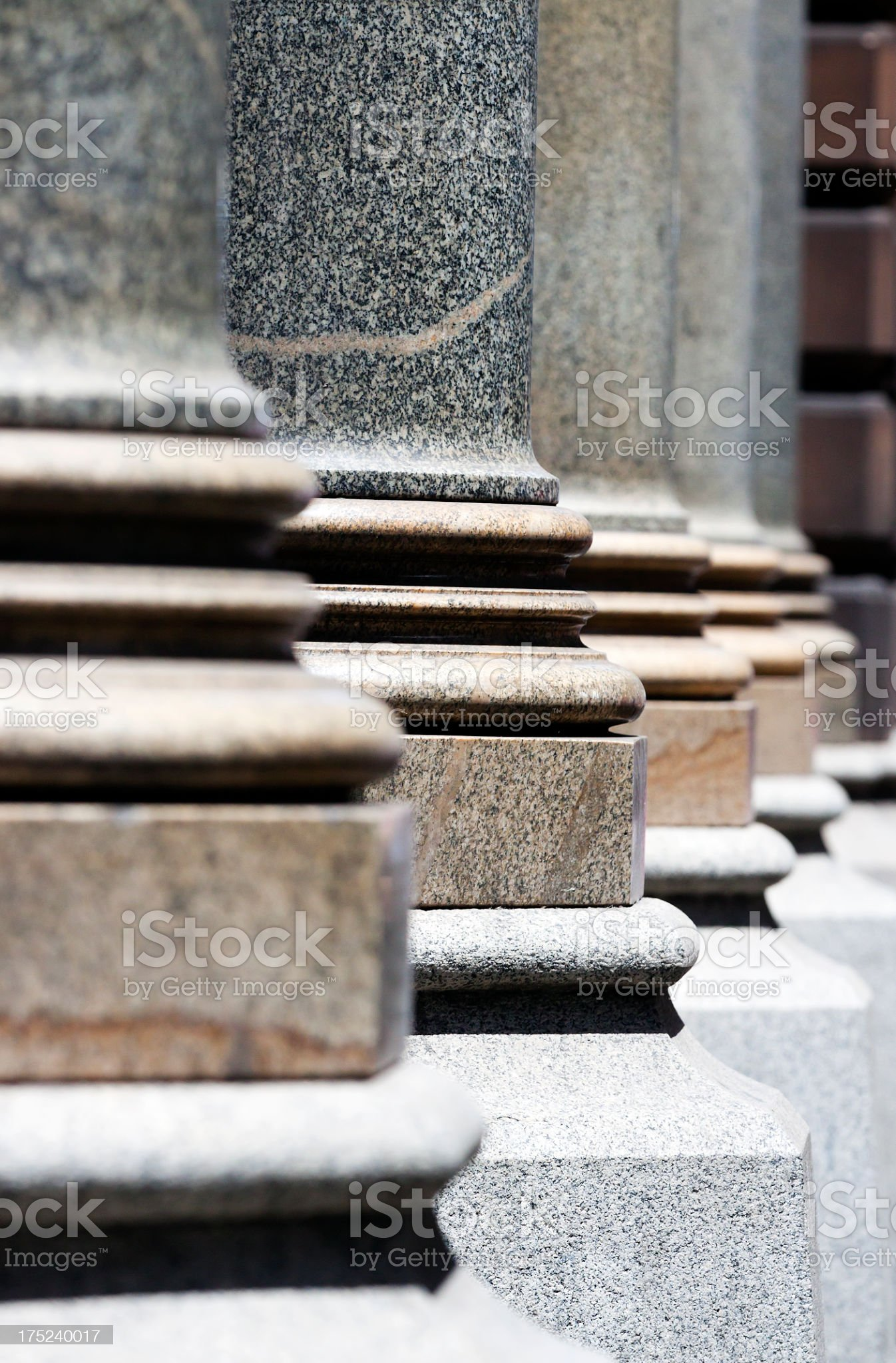 Closeup row of classical marble Columns royalty-free stock photo