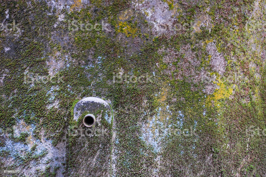 Closeup rusty pipe of water tang royalty-free stock photo