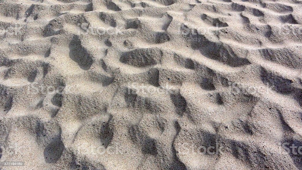 Primer plano de la playa de arena foto de stock libre de derechos