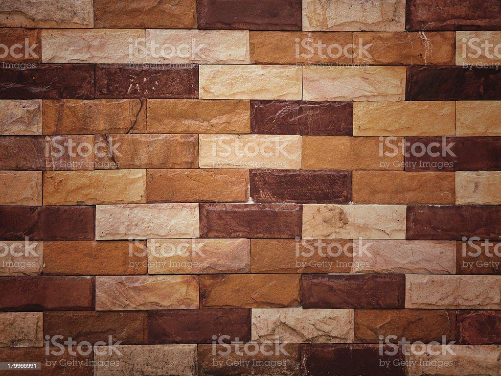 Closeup sand stone brick wall royalty-free stock photo