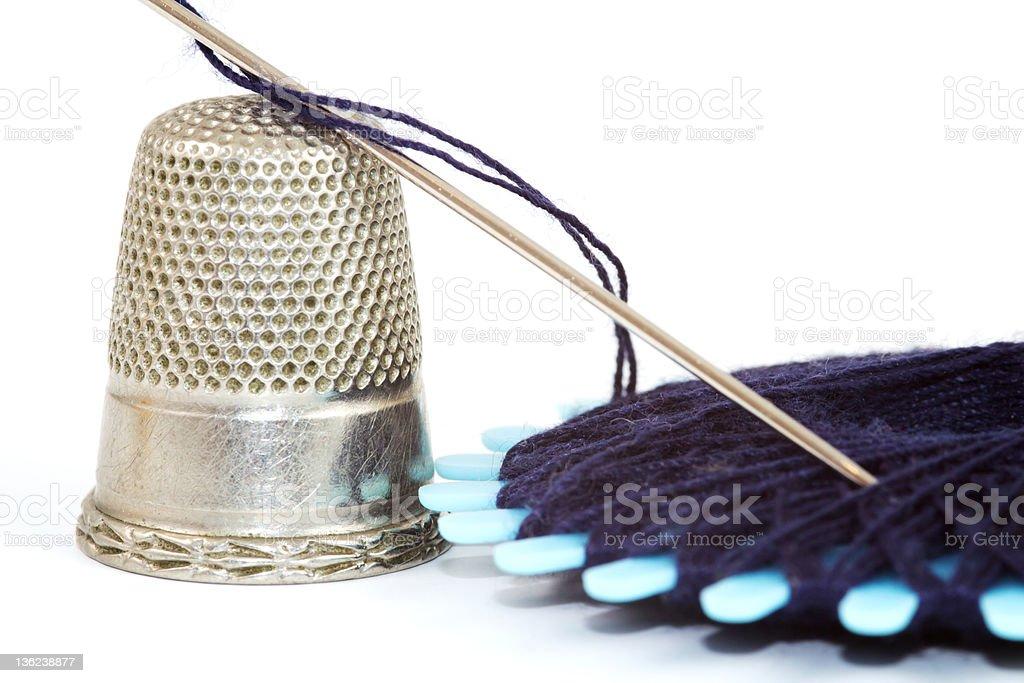 Closeup sewing kit royalty-free stock photo