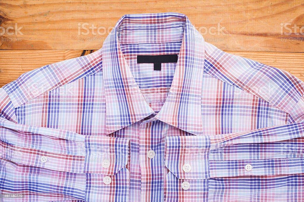 close-up shirts plaid stock photo