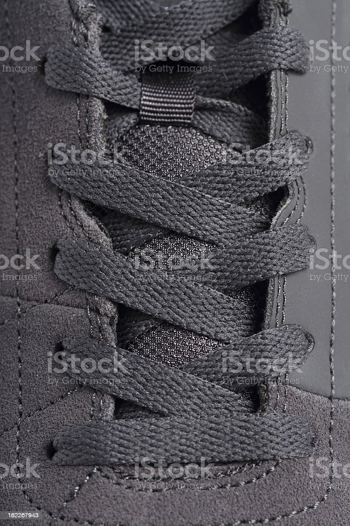Closeup shoelace royalty-free stock photo
