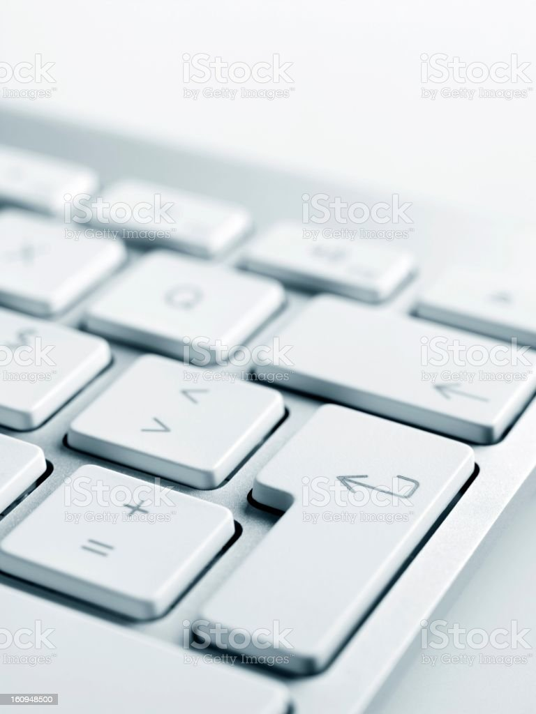 close-up shoot of keyboard. royalty-free stock photo