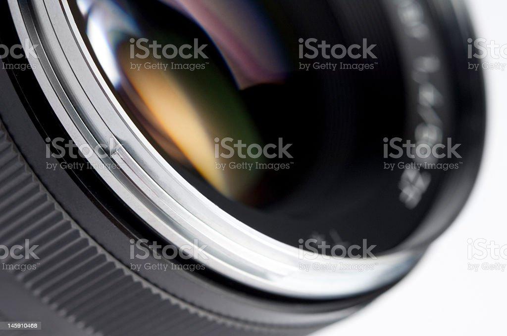 A close-up shot of a camera lens royalty-free stock photo