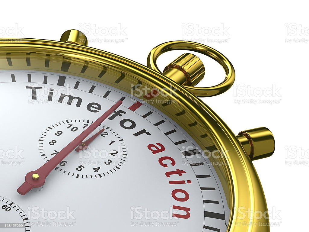 Close-up shot of a manual stopwatch reaching time for action royalty-free stock photo