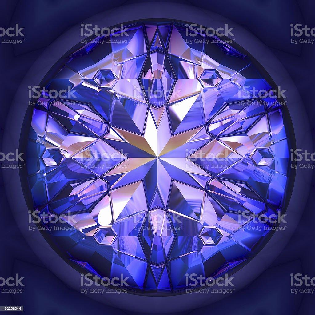 Close-up shot of a shiny blue gem stock photo