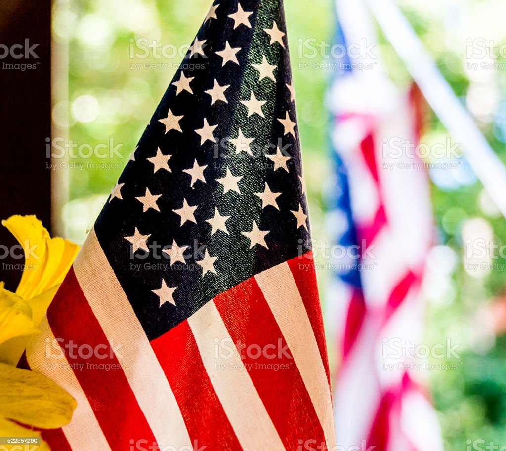 Close-up Shot of American Flag stock photo