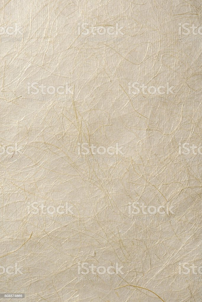 Close-up shot of beige rice paper texture background stock photo