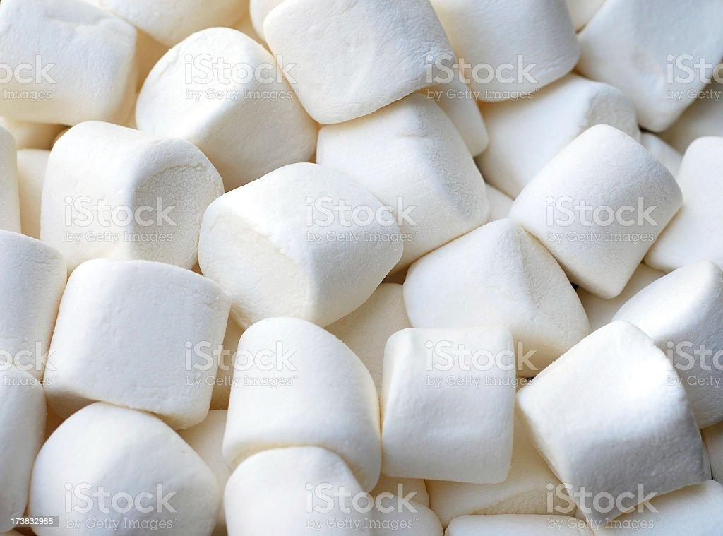 A close-up shot of marshmallows stock photo