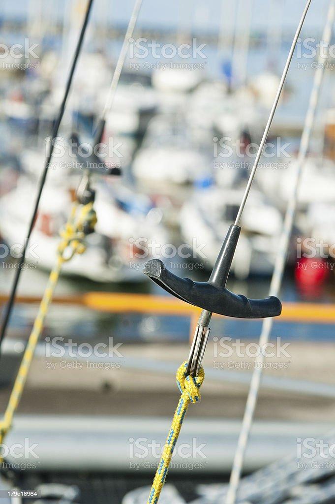 Close-up shot of rope. Taken at a shipyard. royalty-free stock photo