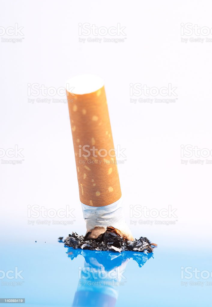 Close-up shot on cigarette royalty-free stock photo