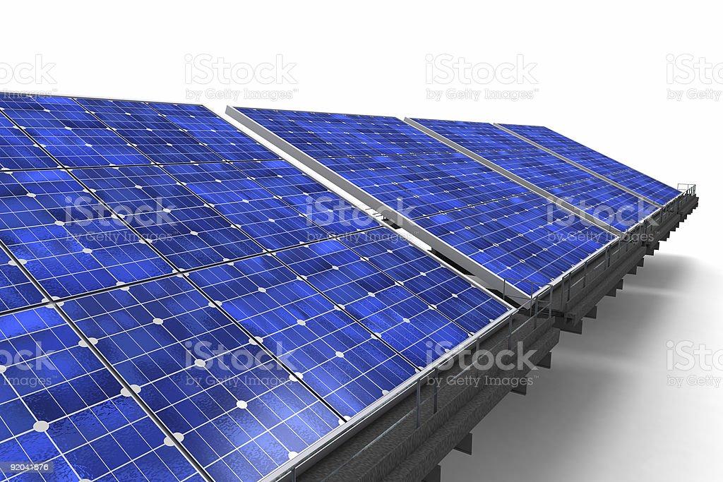 Close-up shot on row of solar panels royalty-free stock photo