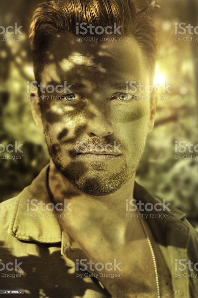 Closeup soldier royalty-free stock photo