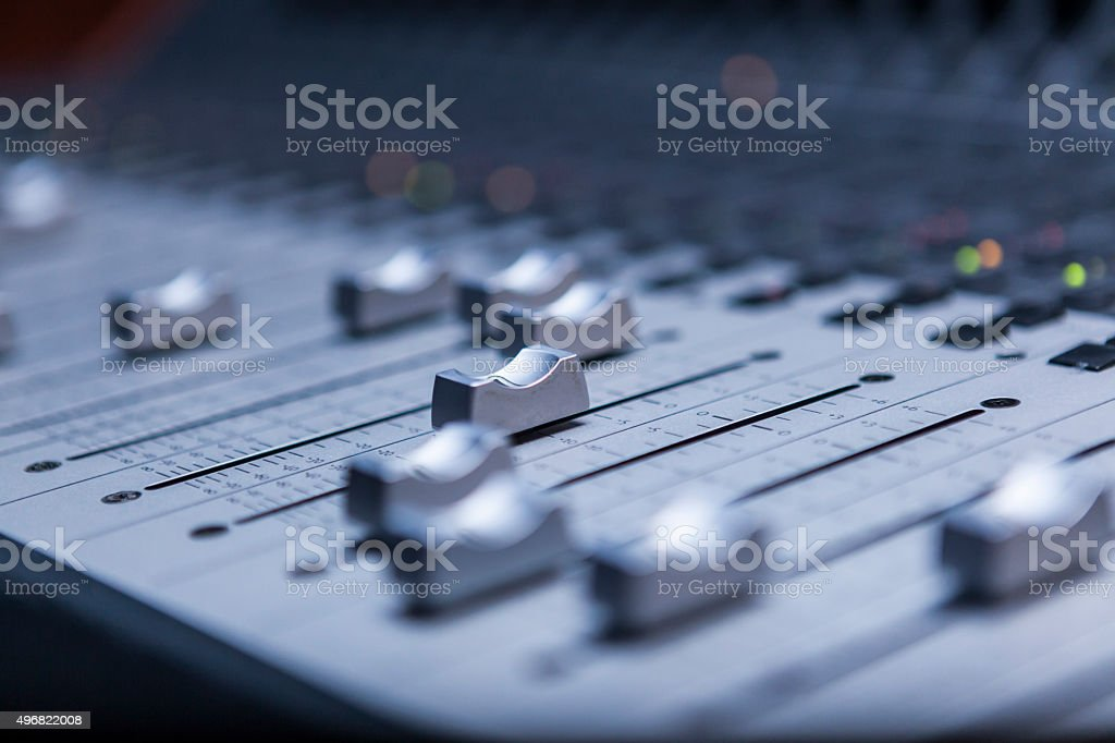 Close-Up Sound Mixer stock photo