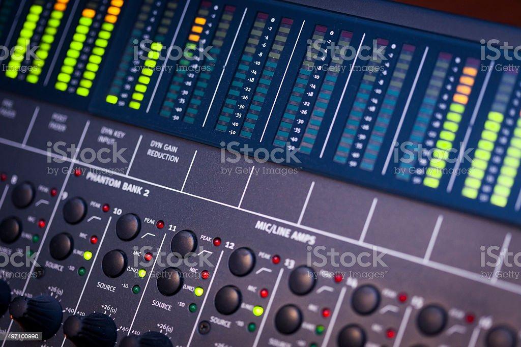 Close-up Sound System stock photo