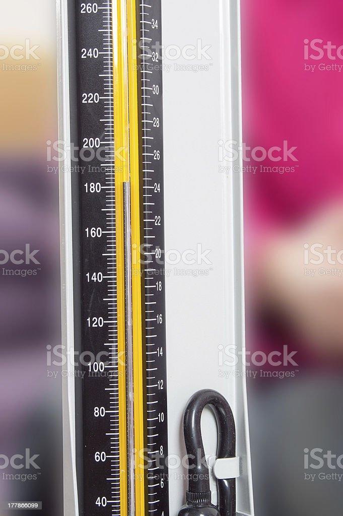 Close-up sphygmomanometer royalty-free stock photo