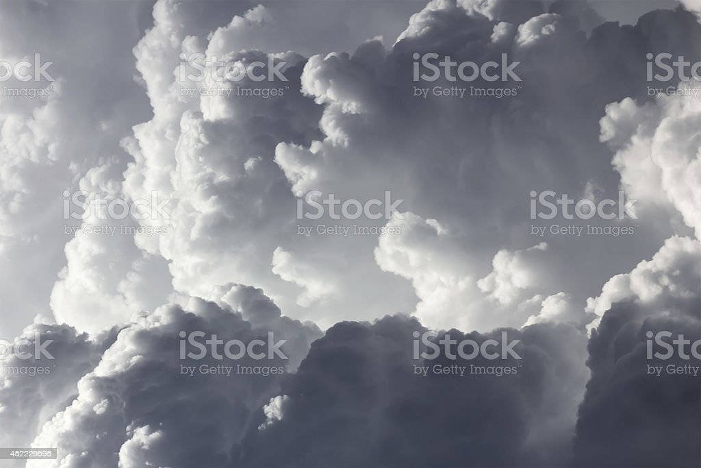 Closeup storm clouds royalty-free stock photo