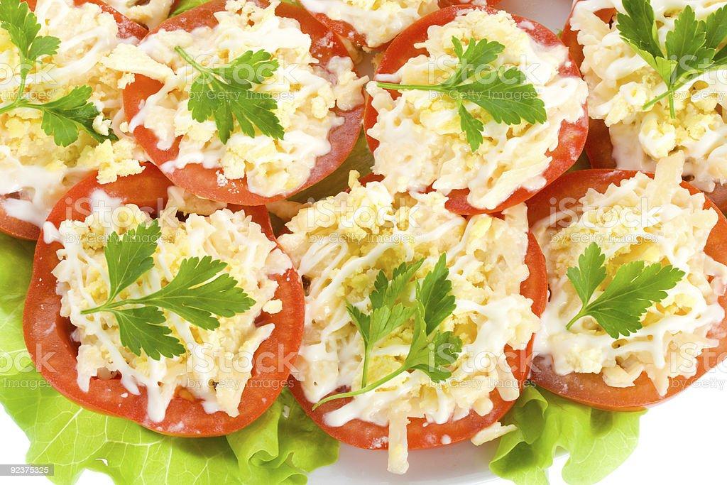 close-up stuffed tomatoes royalty-free stock photo