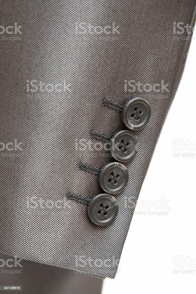 close-up suit sleeve royalty-free stock photo