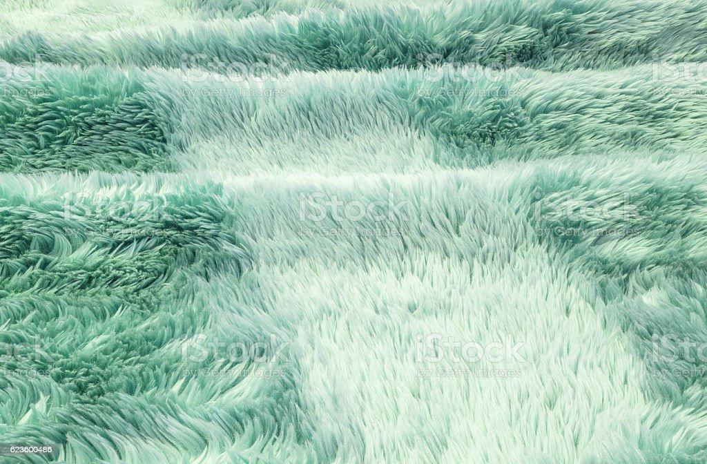 Closeup surface green fabric carpet texture background stock photo