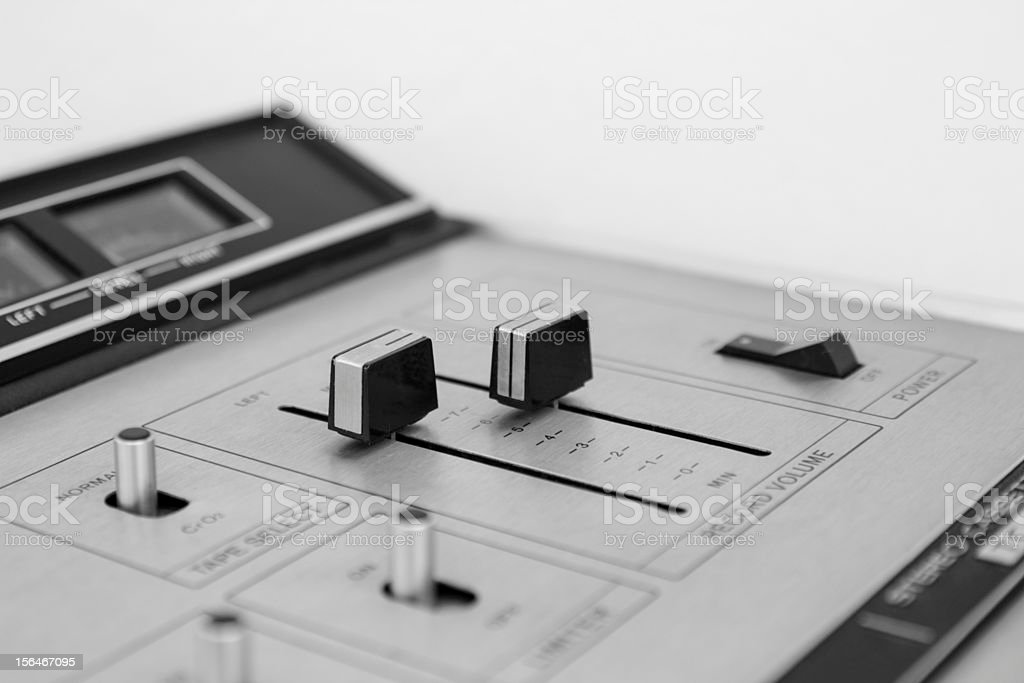closeup Switch Stereo Cassette royalty-free stock photo