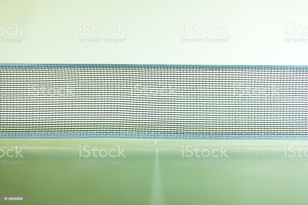 Closeup tennis table with net stock photo
