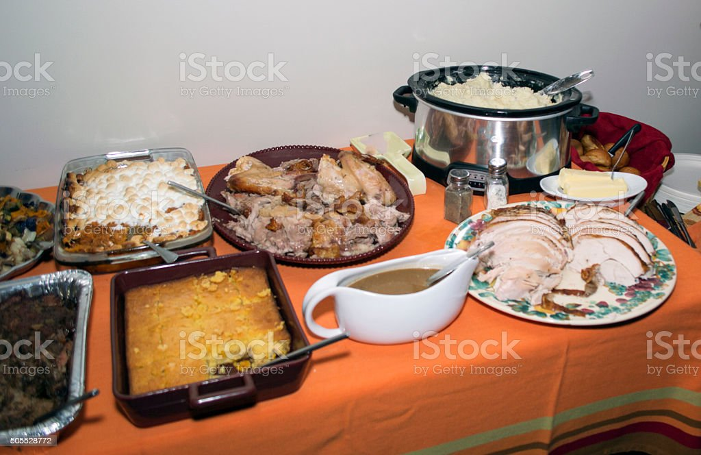 Close-up thanksgiving food stock photo