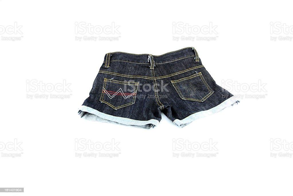 closeup the Jeans shorts. royalty-free stock photo