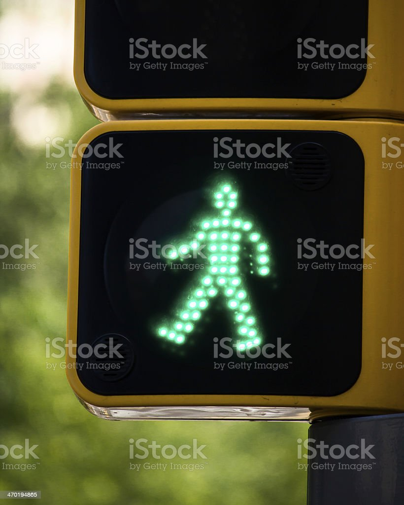 Closeup to a Green Man stock photo