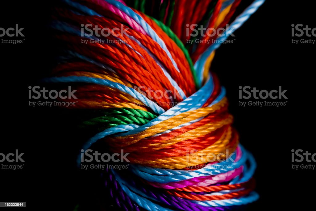 Close-up To Colorful  Knot royalty-free stock photo