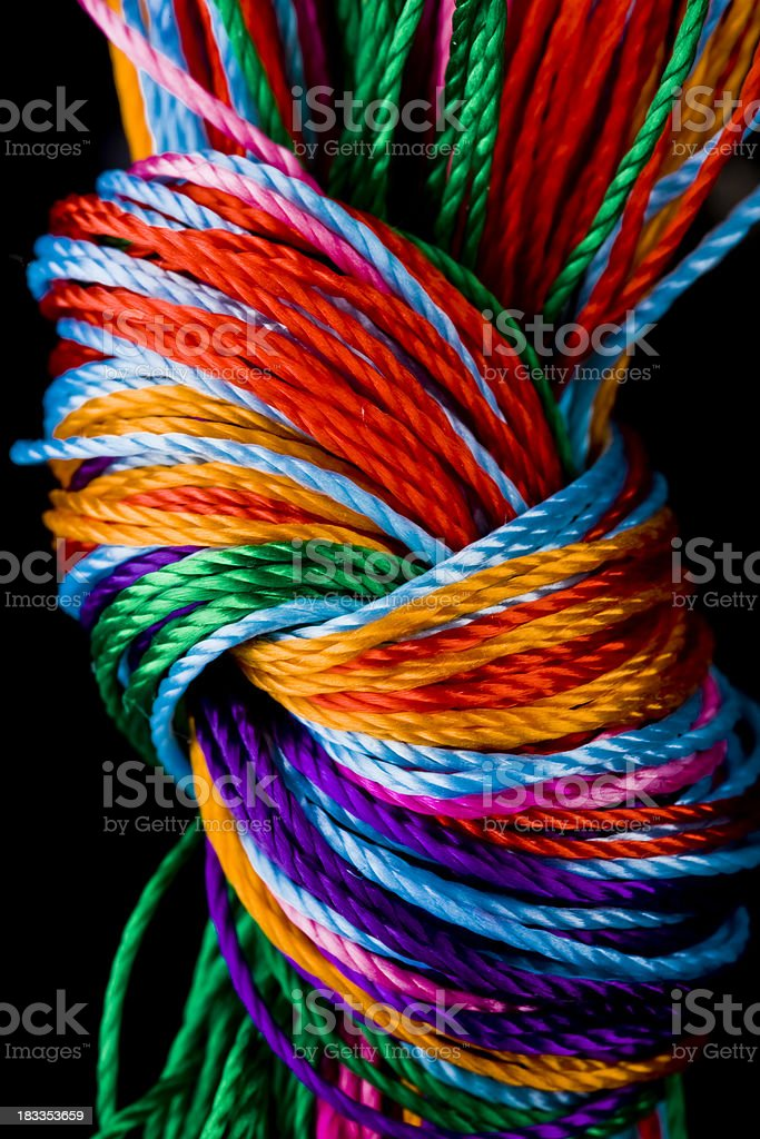 Close-up To Colorful  Knot Vertical royalty-free stock photo