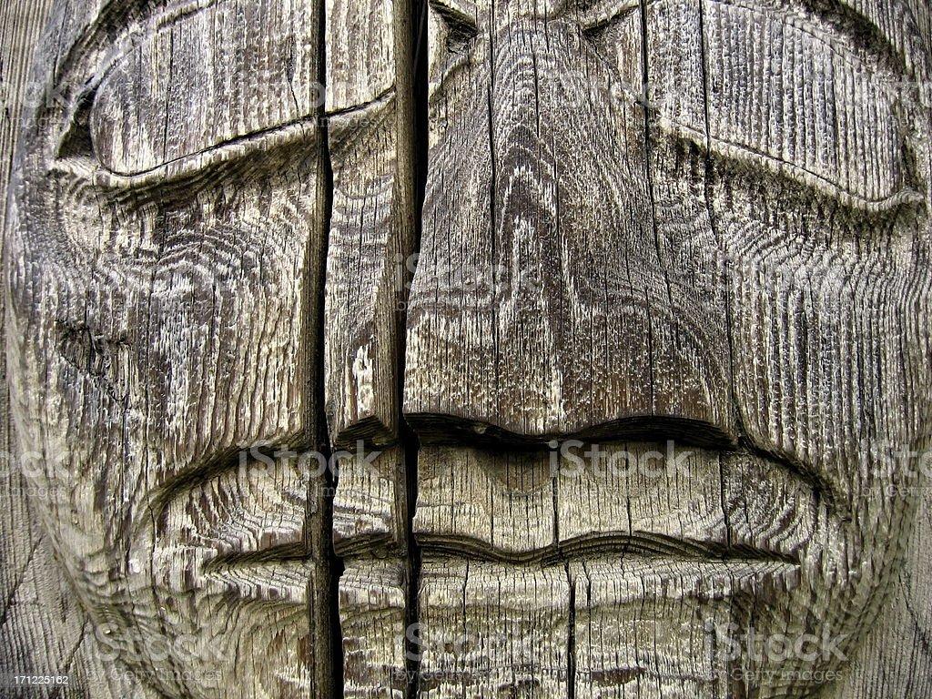 Closeup Totem royalty-free stock photo