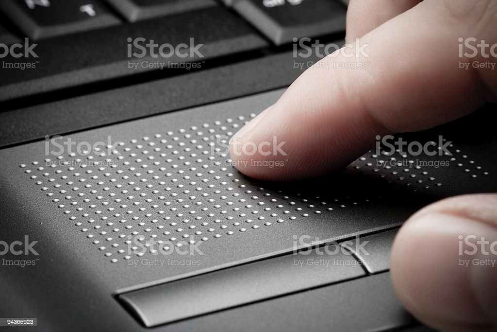 closeup touchpad with finger royalty-free stock photo