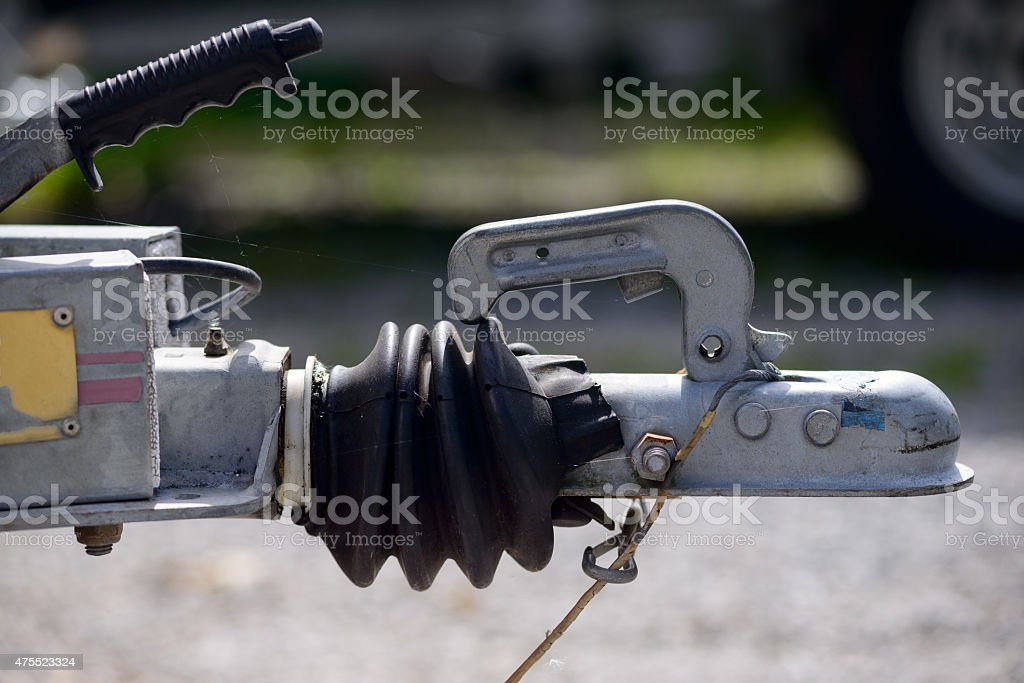 close-up trailer hook stock photo