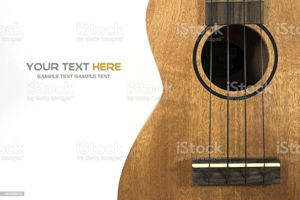 close-up ukulele stock photo