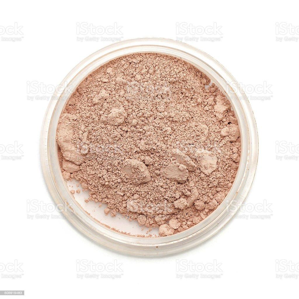 Closeup used makeup powder stock photo