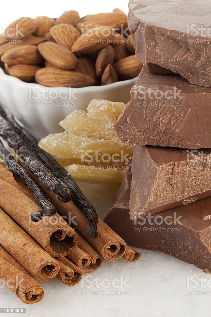 Close-up view of a chocolate ingredients stock photo