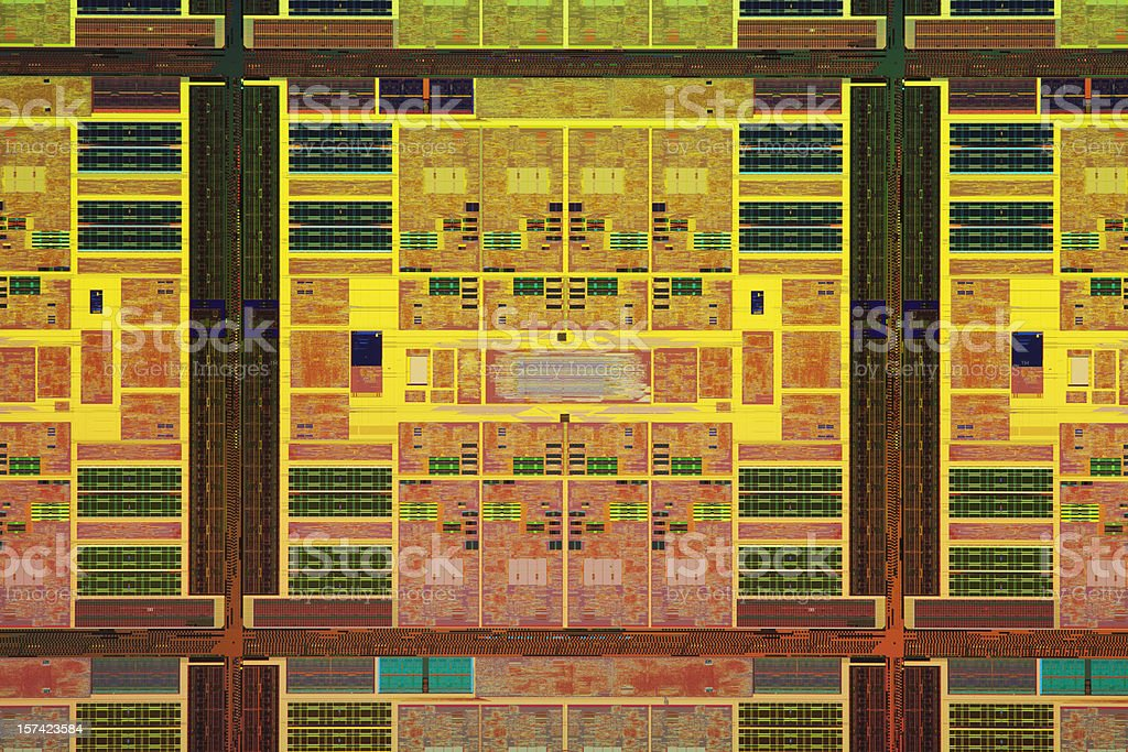Close-up view of a colorful chip wafer royalty-free stock photo