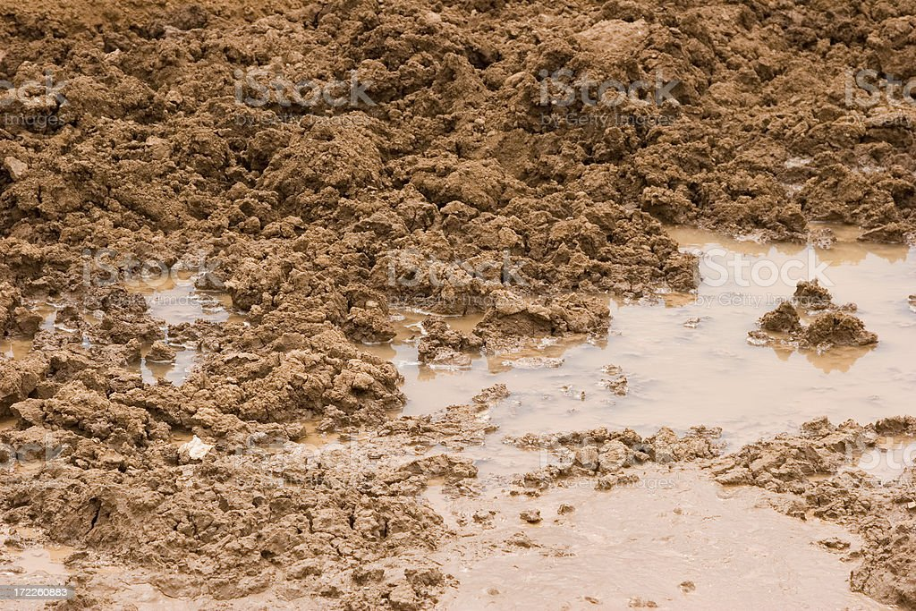 Close-up view of a mess of muddy waters royalty-free stock photo