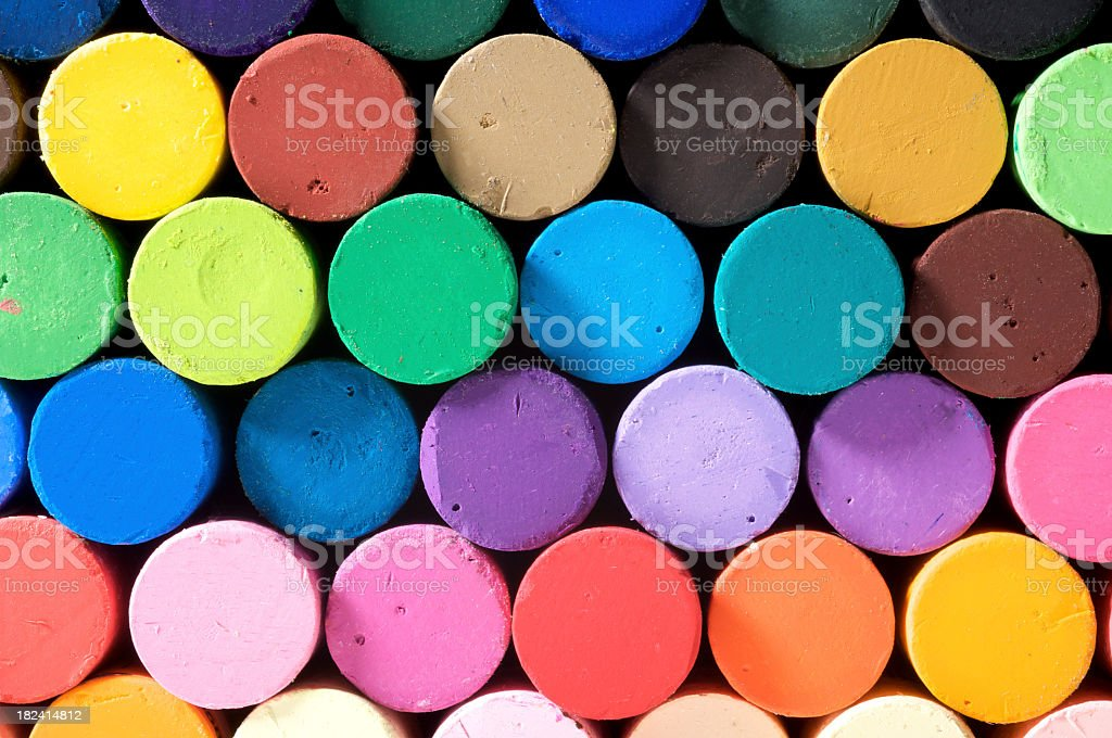 Close-up view of a stack of colorful pastels royalty-free stock photo