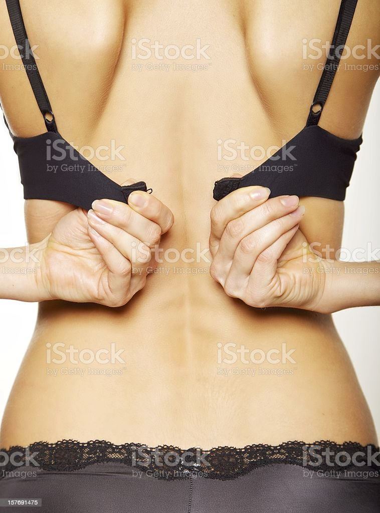 Closeup View of a Woman's Back royalty-free stock photo